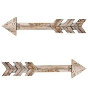 Set 2 Wooden Arrow Wall Rustic Wood Arrow Sign